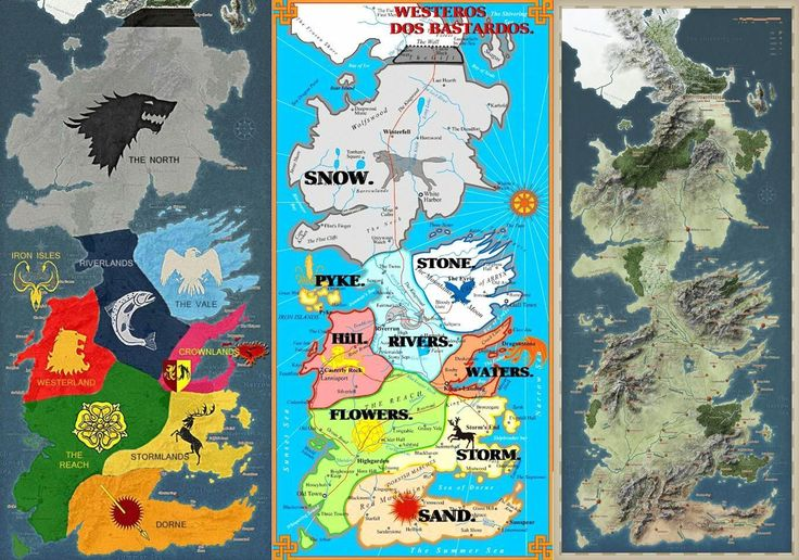 Game of Thrones (GOT) – bloggerinablogworld.com Map Of The Seven Kingdoms Westeros on